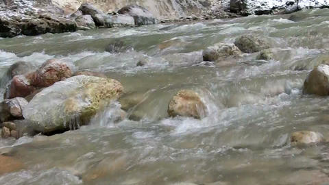 cold mountain river Footage