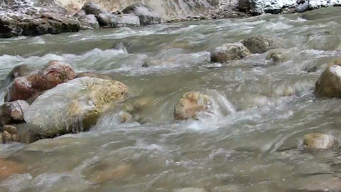 cold mountain river Stock Video Footage