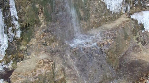 cold mountain waterfall Footage