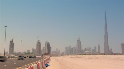 Dubai skyline time lapse burj Stock Video Footage