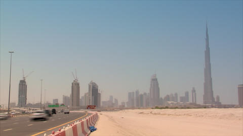 Dubai skyline time lapse burj Stock Video Footage