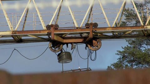 rail crane in action Footage