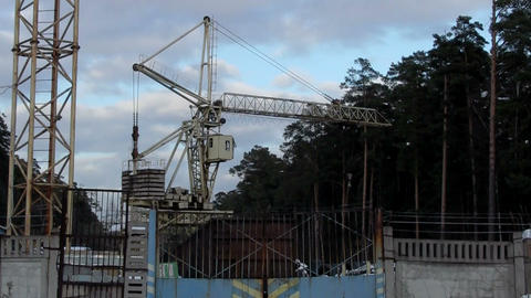 rail crane in action Stock Video Footage