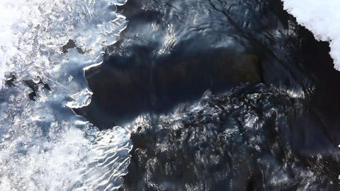 Ice and water Stock Video Footage