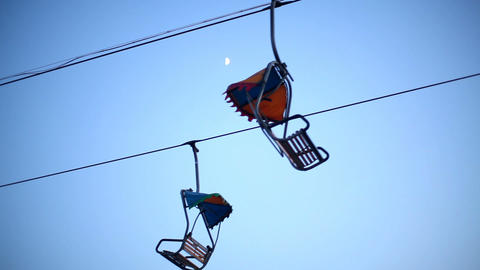 chair lift Stock Video Footage