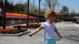 Baby At A Park stock footage
