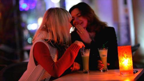 friends chilling out at a bar Stock Video Footage