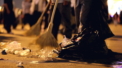 Street Cleaning Stock Video Footage