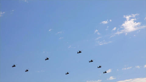 helicopter parade Stock Video Footage