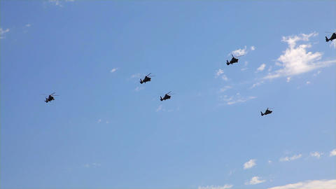 helicopter parade Footage