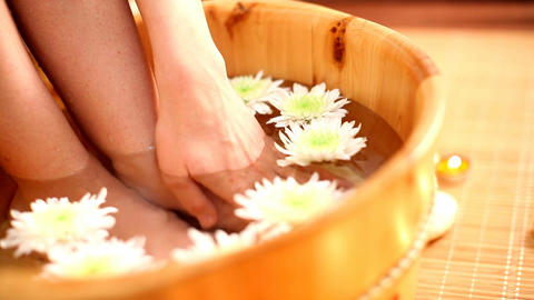 foot spa Stock Video Footage