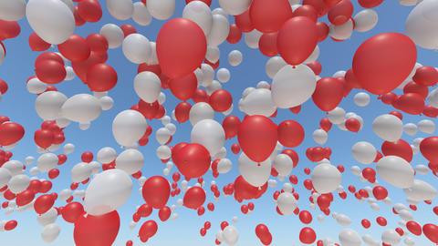 Balloon 2 Ab Rainbow Stock Video Footage