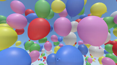 Balloon Ab Rainbow Stock Video Footage