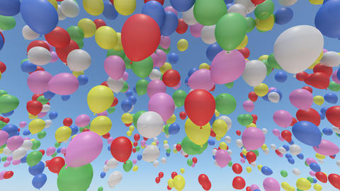 Balloon Ab Rainbow Stock Video Footage