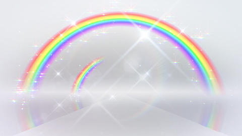 Rainbow A White Glitter Stock Video Footage
