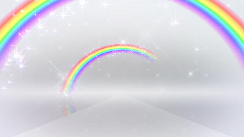 Rainbow A White Glitter Animation