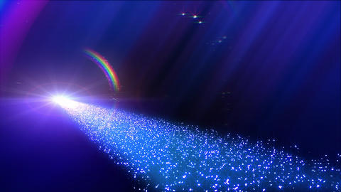 Rainbow BB Way D2 Stock Video Footage