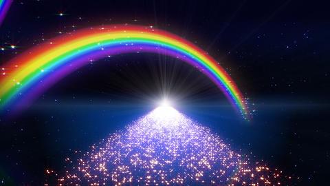 Rainbow D Way B1 HD Stock Video Footage