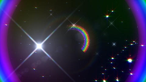 Rainbow F Black Glitter HD Animation