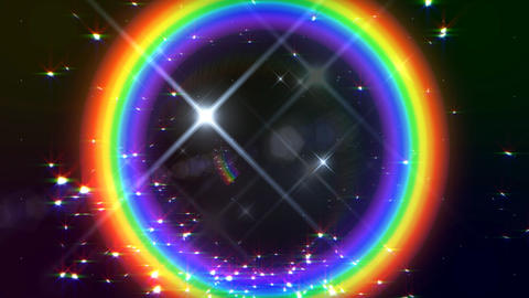 Rainbow F Black Glitter HD Stock Video Footage