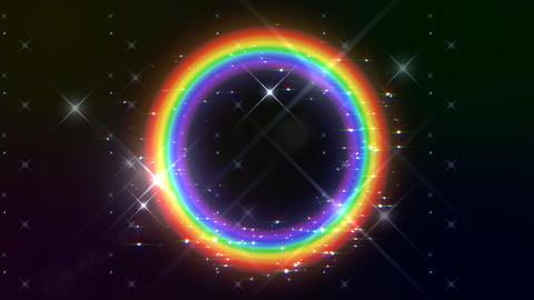 Rainbow F Black Glitter HD Stock Video Footage