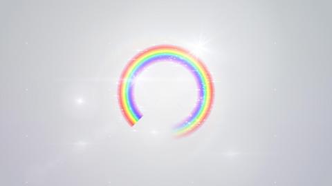Rainbow F White Glitter Stock Video Footage