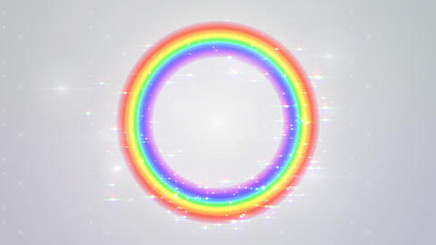 Rainbow F White Glitter Animation