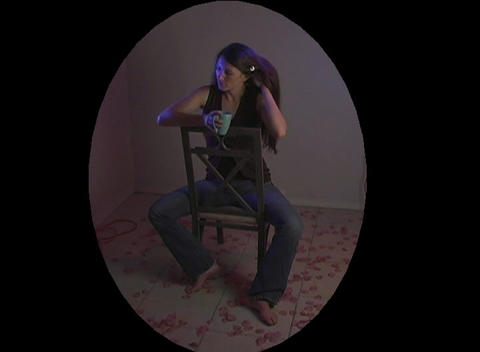 Beautiful Young Woman Sitting Alone (2) Stock Video Footage