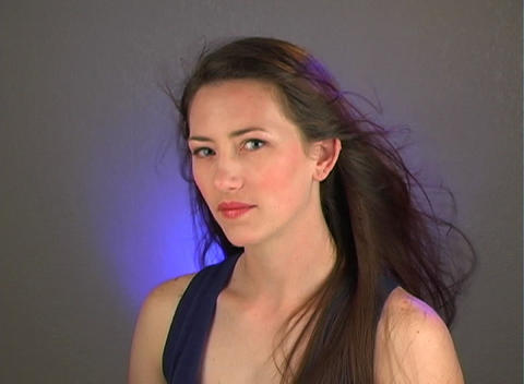 Close-up of a Beautiful Young Brunette (2) Stock Video Footage
