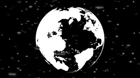 Globe Middle Money & Flags Stock Video Footage