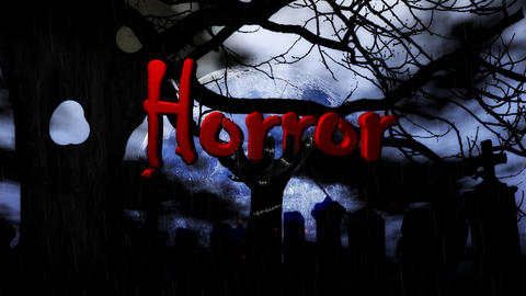 Master with rain Horror Stock Video Footage