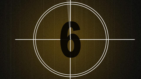 Film Countdown Treated Stock Video Footage