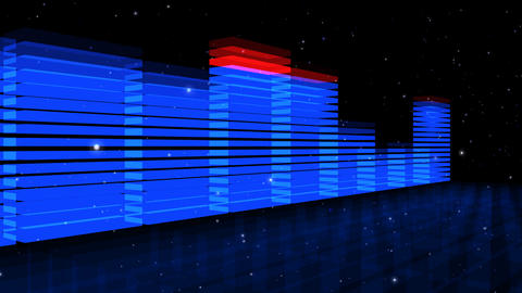 Audio Lights 3D Rotating Animation