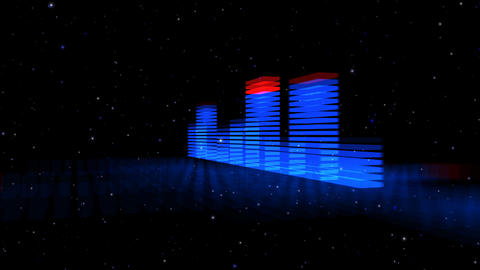 Audio Lights 3D Rotating 2 Animation