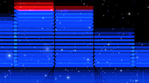 Audio Lights 3D Slow Zoom out, CG動画素材