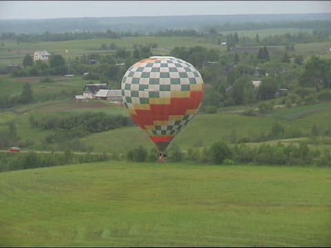 view from basket Stock Video Footage