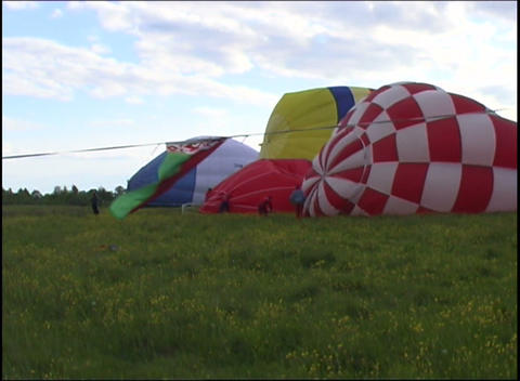 inflating air bags Stock Video Footage