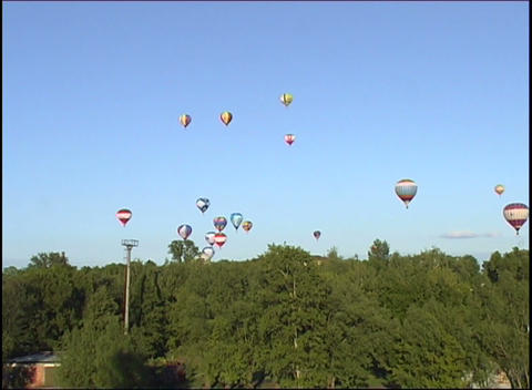 hot air balloon in the sky Stock Video Footage