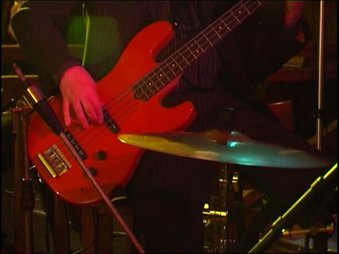 bass guitar Footage