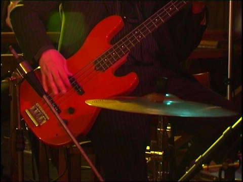 bass guitar Stock Video Footage