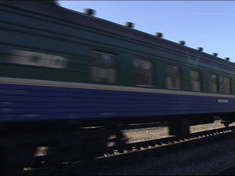 train arrives to a station Footage