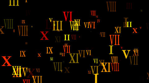 roman numbers Stock Video Footage