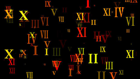 roman numbers Animation