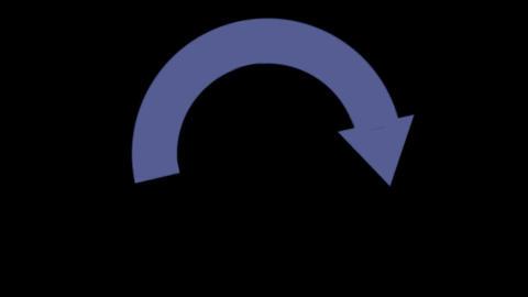 round arrow Stock Video Footage