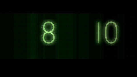 scanning green numbers Stock Video Footage