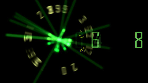spinning analogue clock Stock Video Footage