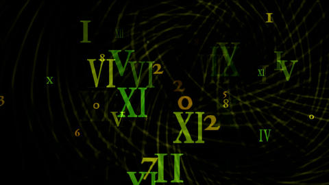 vortex with all numbrers Stock Video Footage