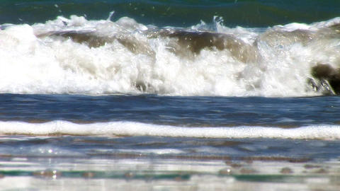 CU Waves Stock Video Footage