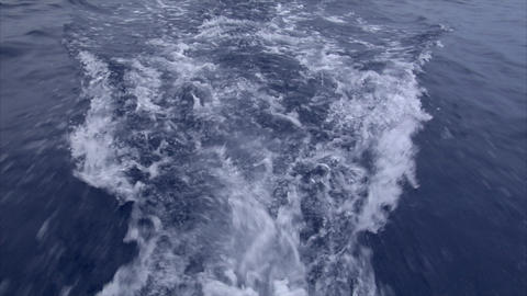 realtime water swirl behind a boat Footage