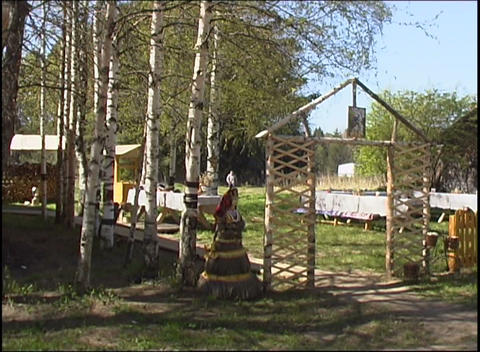 russian village yard Stock Video Footage